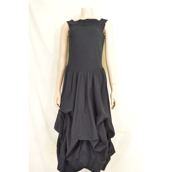 Luna Luz Dresses & Skirts - Luna Luz dress L black sleeveless balloon tie up p